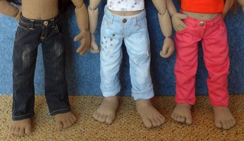 Frame Puppenschuhe aus: